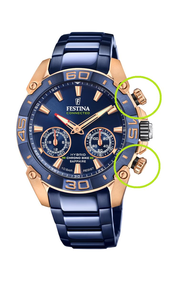 Funkce chytrých hodinek Festina Chrono Bike Connected